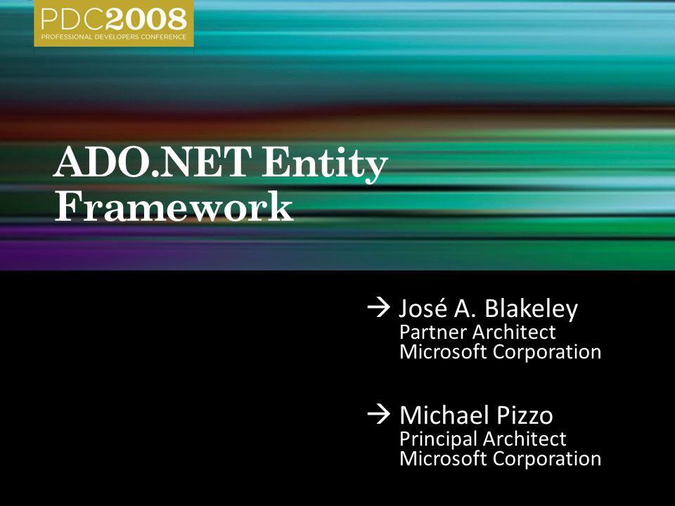  José A. Blakeley Partner Architect Microsoft Corporation  Michael Pizzo Principal Architect Microsoft Corporation