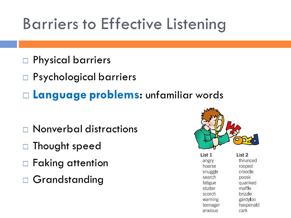 report on barriers to good listening
