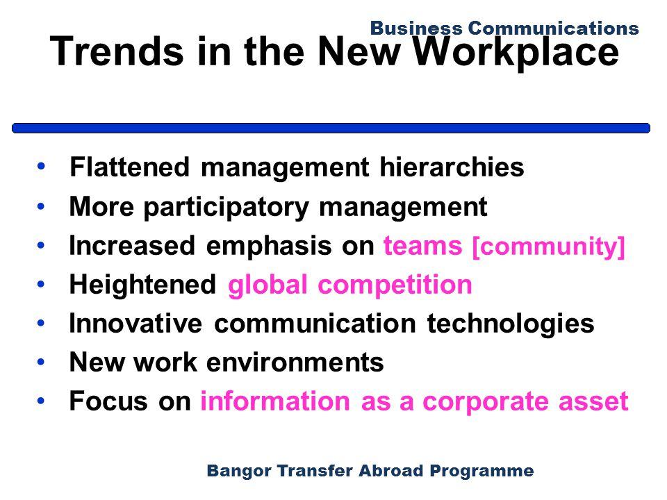 Bangor Transfer Abroad Programme Business Communications End