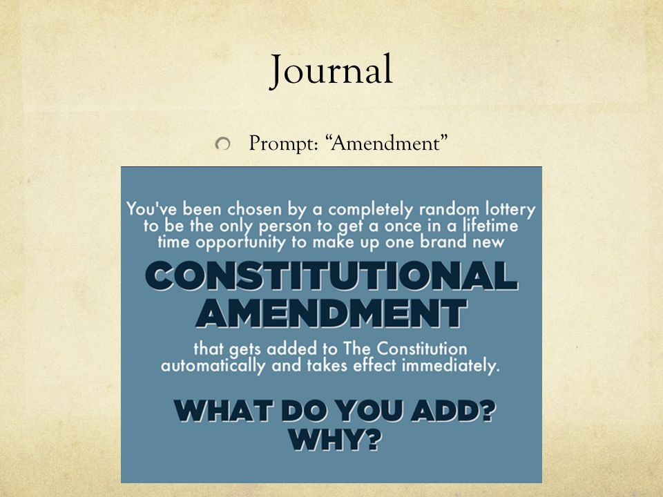 Journal Prompt: Amendment