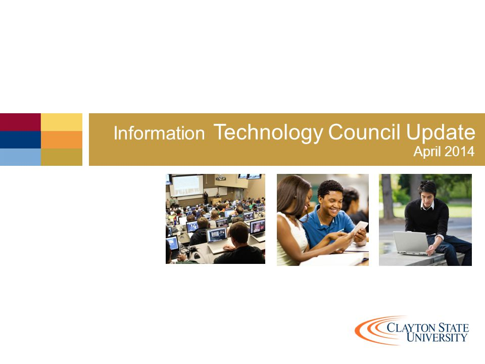 Information Technology Council Update Mission Provide a reliable, effective information technology environment supported by transparent governance and policies, budgets, and practices that support and foster innovation, operational efficiencies, and exceptional support and services to the campus community.