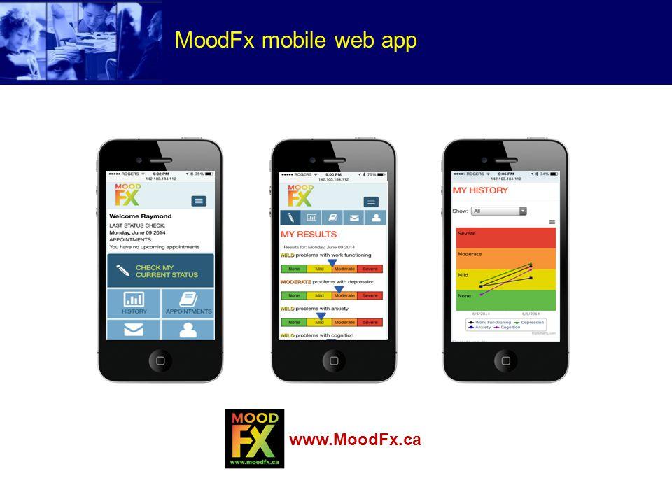 MoodFx mobile web app www.MoodFx.ca