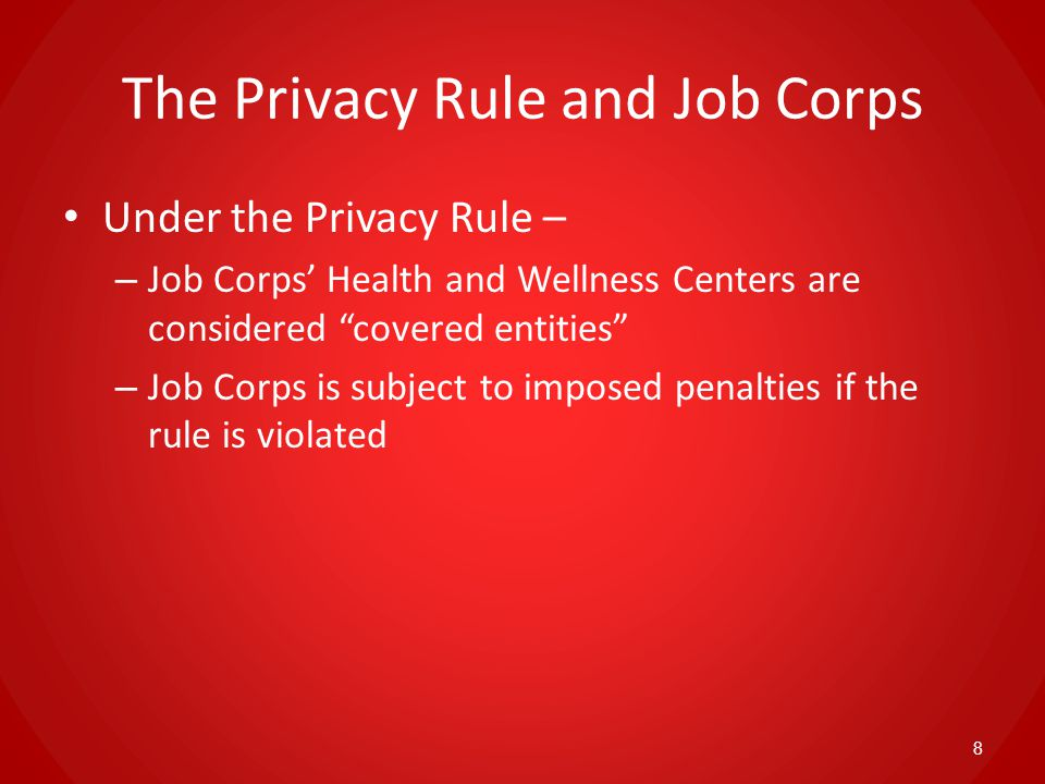 Center Director Responsibilities Ensure that the Privacy Rule is enforced Designate a Privacy Officer and Complaint Officer Ensure that ALL students on center have a Notice and signed Authorization in their medical record Review and grant written requests to revoke the HIPAA Authorization 39