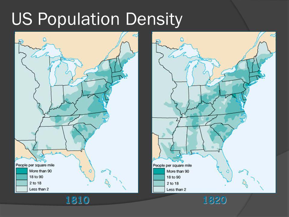 18101820 US Population Density