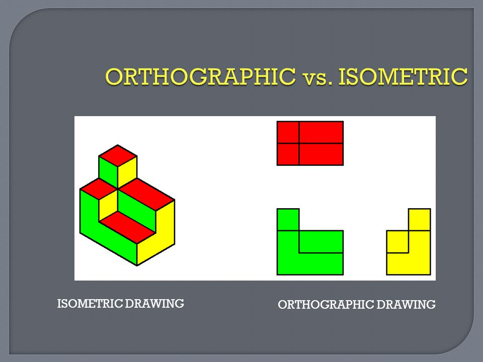 ISOMETRIC DRAWING ORTHOGRAPHIC DRAWING