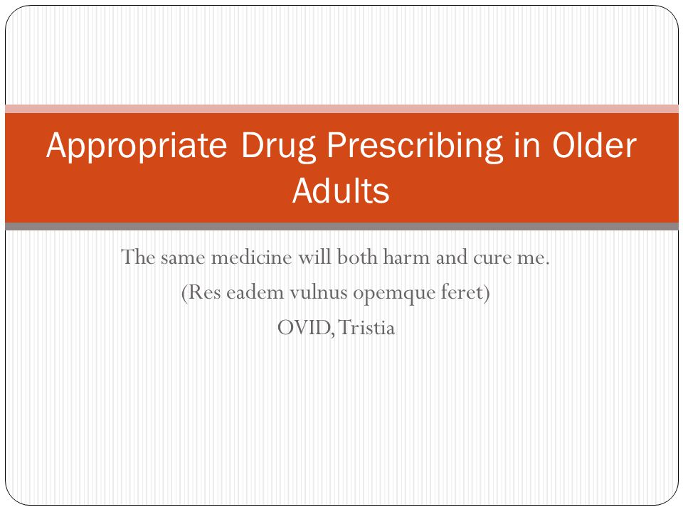 Propoxyphene (Darvocet) Longstanding member of the Beer's inappropriate drug list for elderly patients 12th highest-selling generic drug in 2004 23 million prescriptions filled and sales that year of $291 million Analgesic properties are inferior to other opiates May not be better than NSAID's or acetaminophen alone for acute pain Still has some opiate side effects The elimination half-lives of both propoxyphene and its even more potent metabolite, norpropoxyphene, are prolonged in healthy elderly subjects relative to young controls In young people, propoxyphene had a 13.2 day half-life 23.7 day half-life in the elderly group Recent call from Public Citizen to phase out distribution in the U.S.
