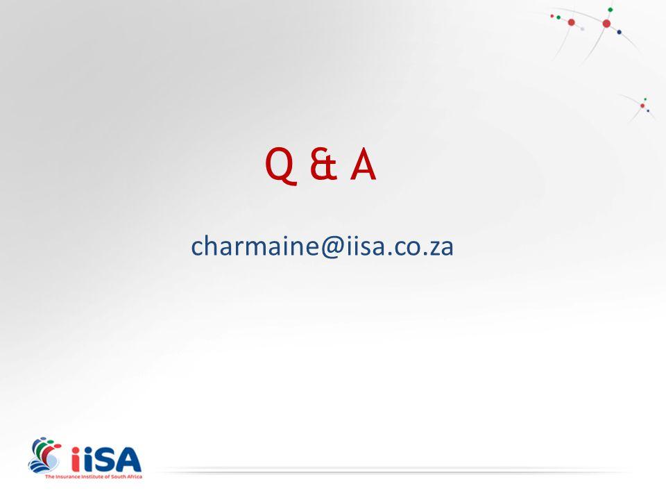 Q & A charmaine@iisa.co.za