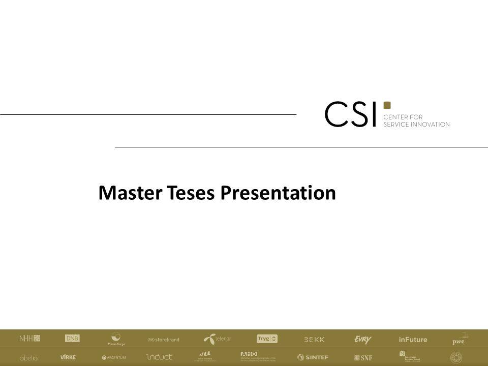 Master Teses Presentation