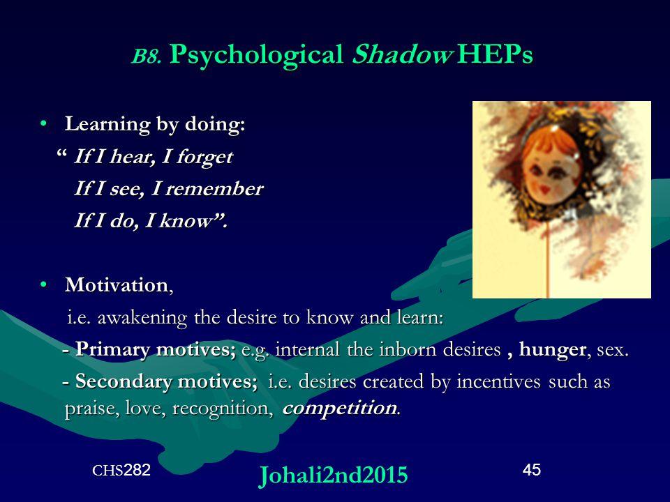 Psychological Shadow HEPs B8.