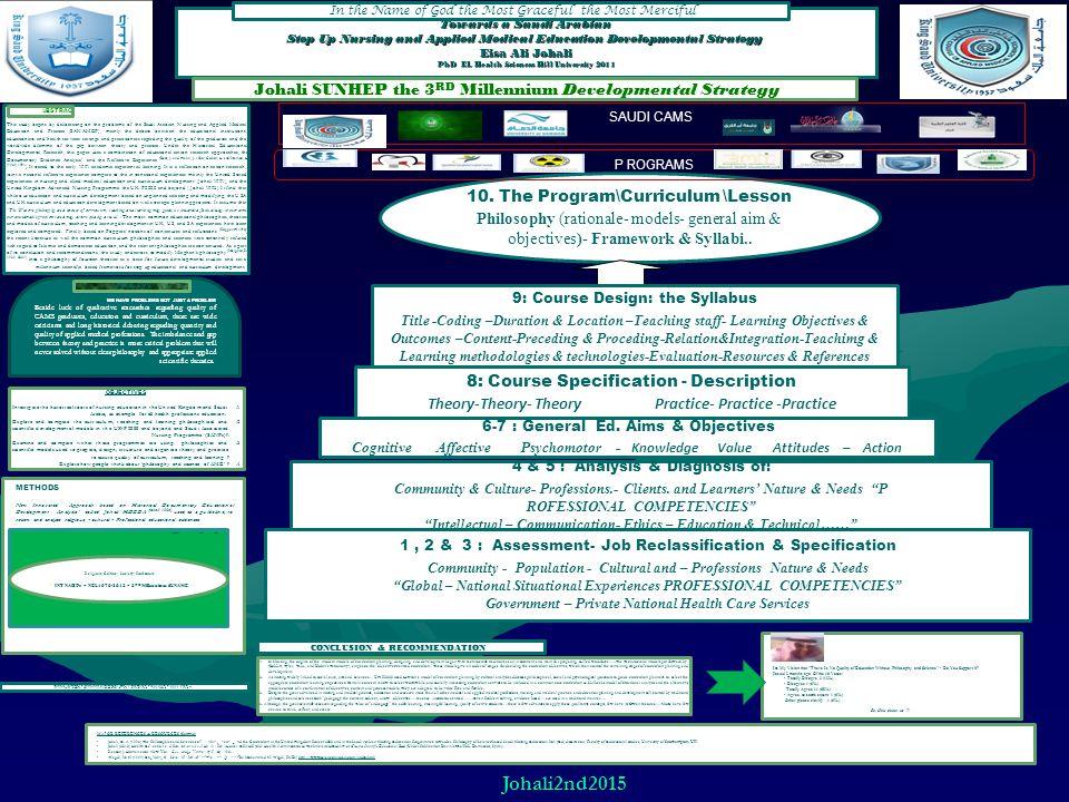 MAJOR REFERENCES & RESOURCES (Sample) -Johali, E.