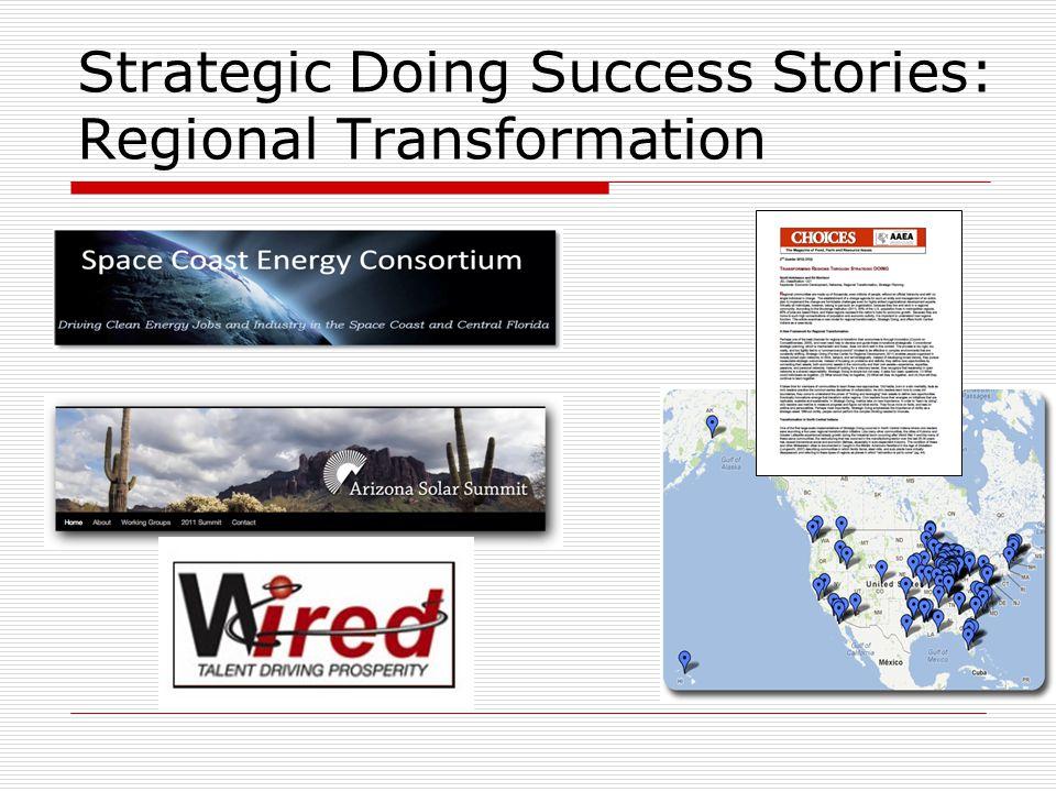 Strategic Doing Success Stories: Regional Transformation