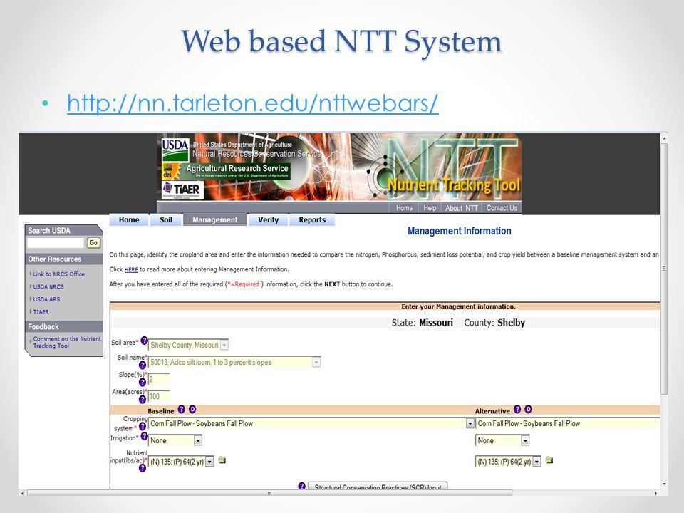 http://nn.tarleton.edu/nttwebars/ Web based NTT System