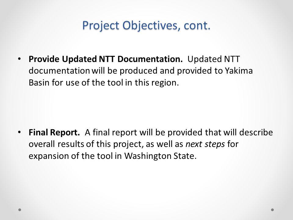 Provide Updated NTT Documentation.