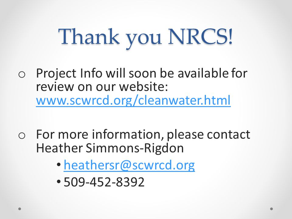 Thank you NRCS.
