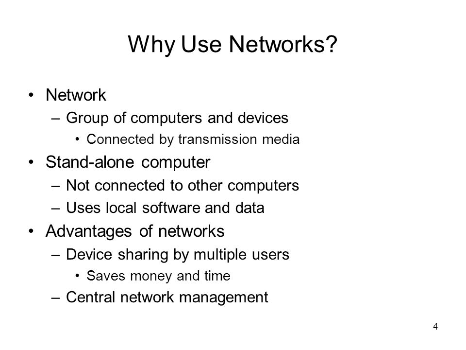 4 Why Use Networks.