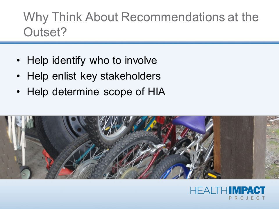 Why Think About Recommendations at the Outset.