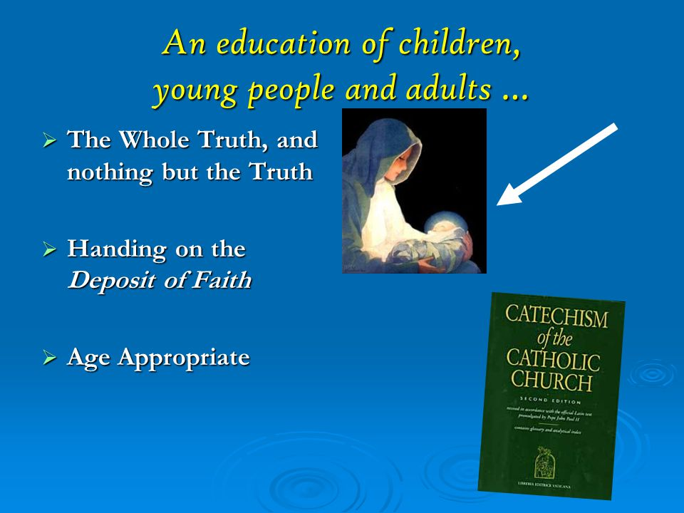Other Types of Education Thought Word Deed Catechesis