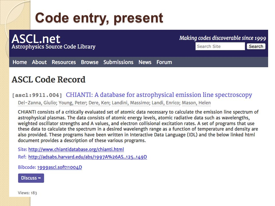 Code entry, present