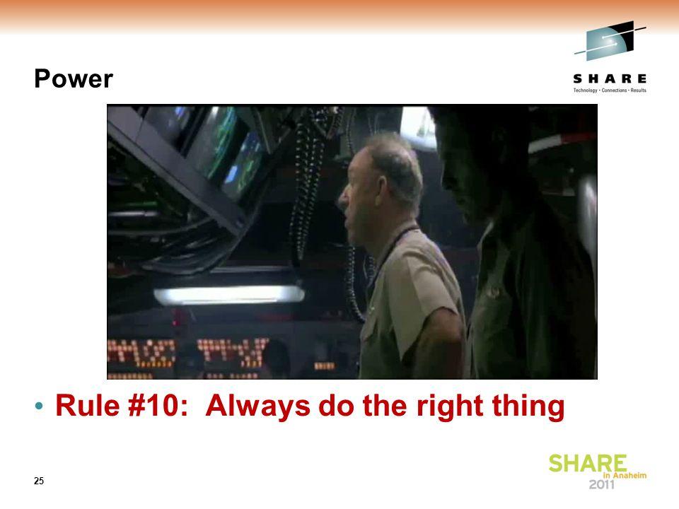 Power Rule #10: Always do the right thing 25