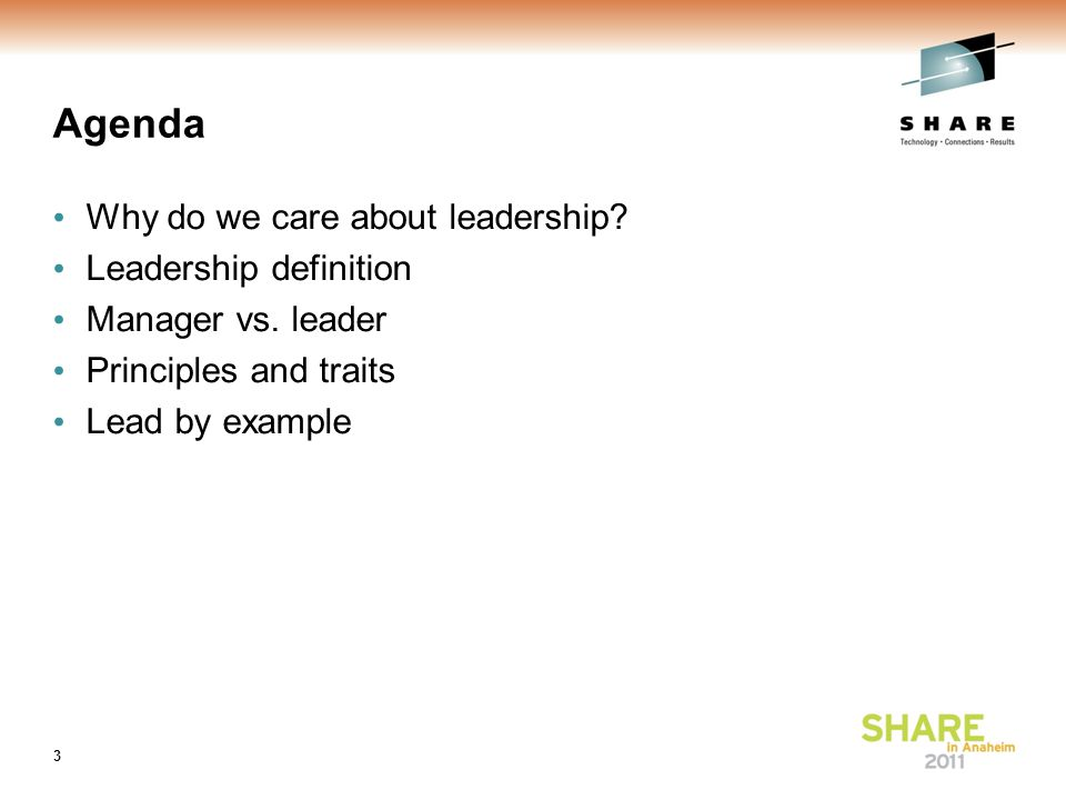 Agenda Why do we care about leadership. Leadership definition Manager vs.