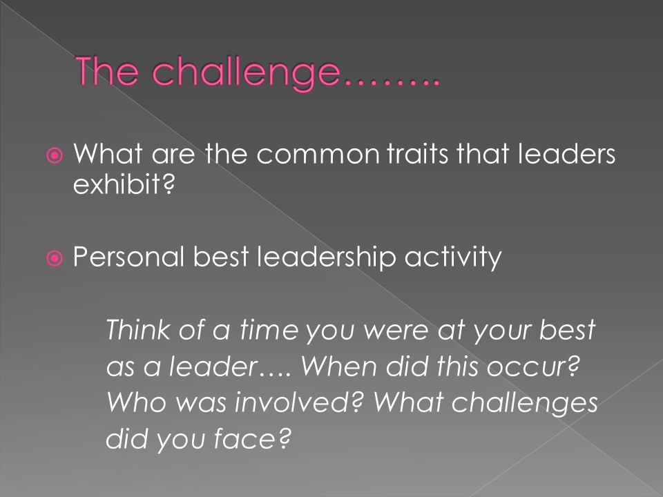  What are the common traits that leaders exhibit.