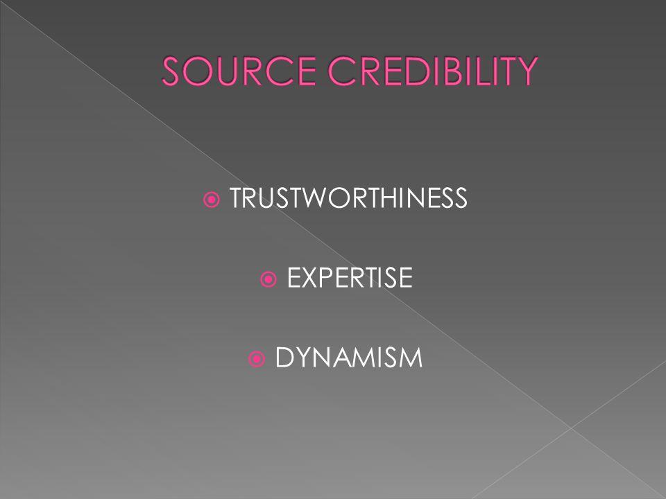  TRUSTWORTHINESS  EXPERTISE  DYNAMISM