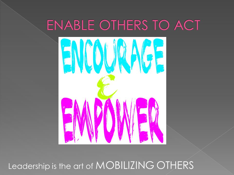 Leadership is the art of MOBILIZING OTHERS