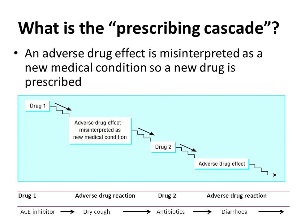 What is the prescribing cascade .