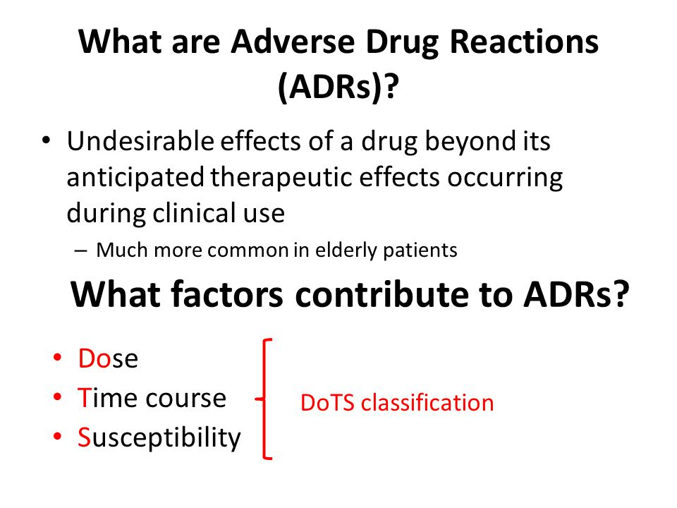 What are Adverse Drug Reactions (ADRs).