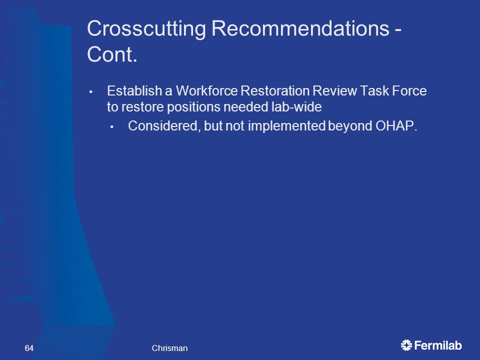 Crosscutting Recommendations - Cont.
