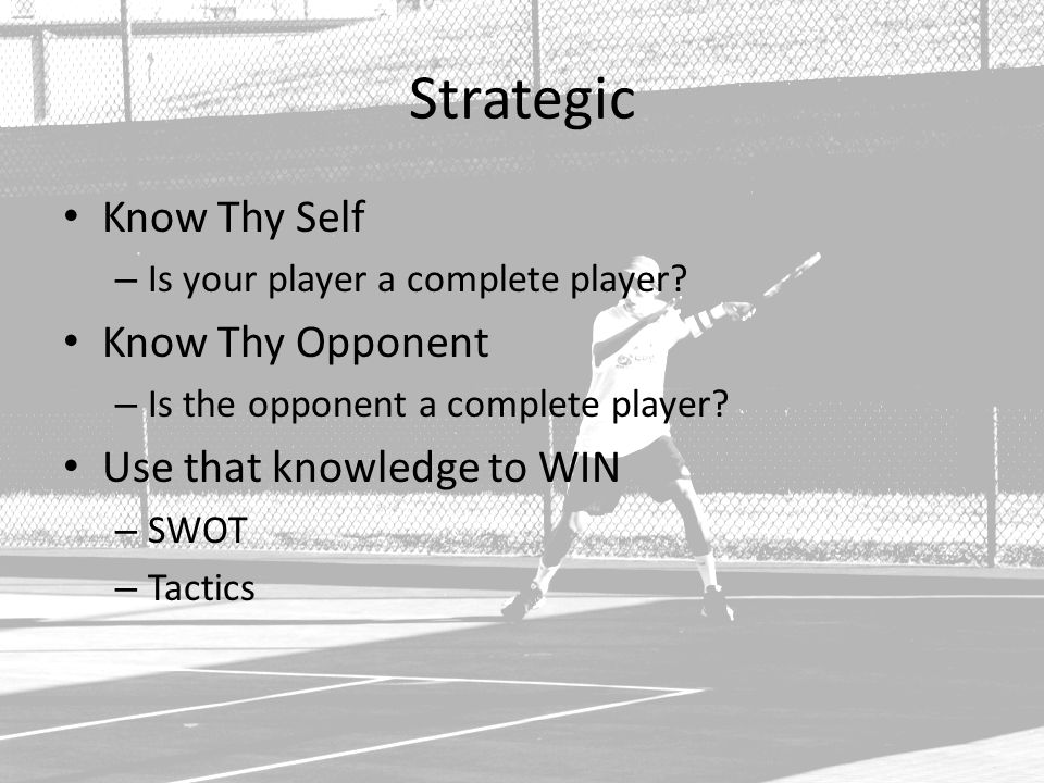 Strategic Know Thy Self – Is your player a complete player.