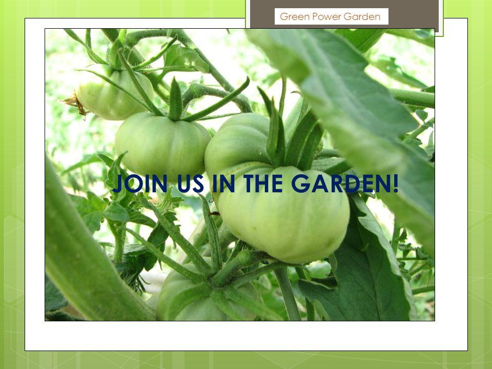 Green Power Garden JOIN US IN THE GARDEN!