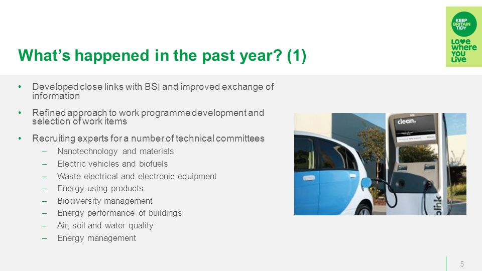 What's happened in the past year.(2) Participating in a number of BSI committees (e.g.