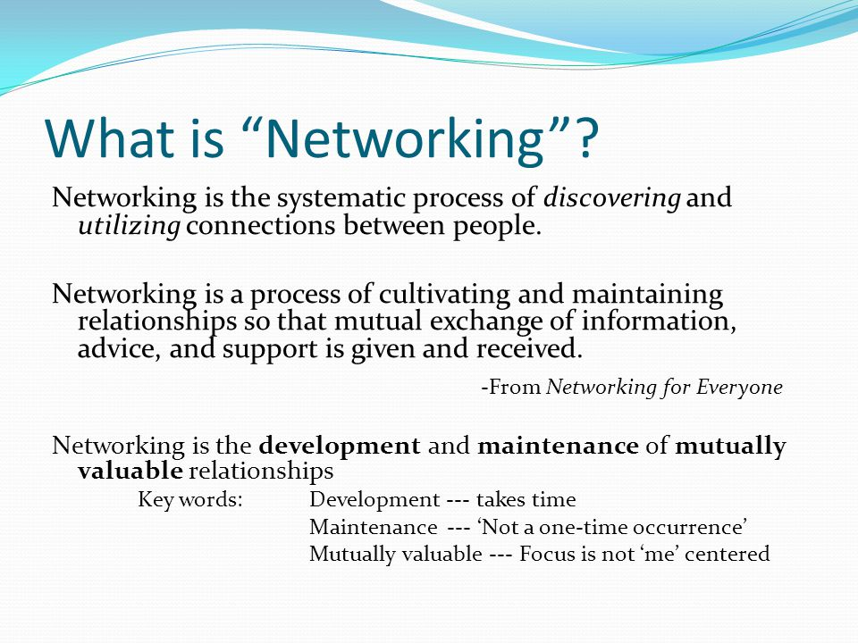 What is Networking .