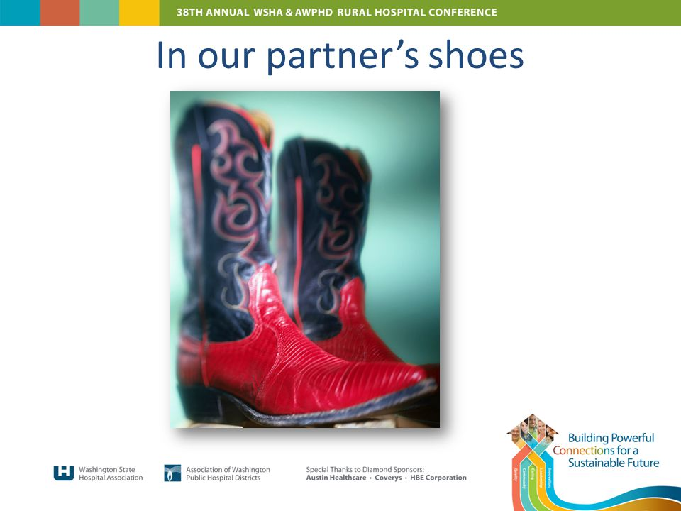 In our partner's shoes