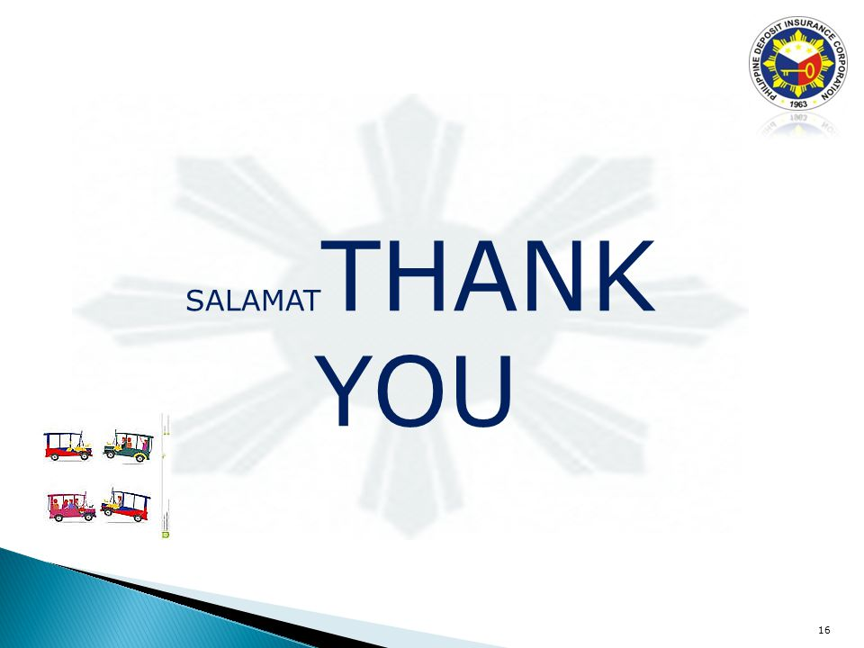 16 SALAMAT THANK YOU