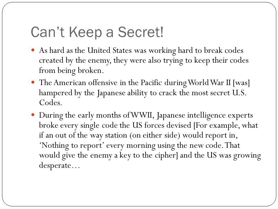Can't Keep a Secret.
