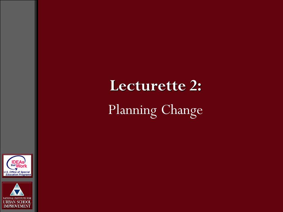 Lecturette 2: Planning Change