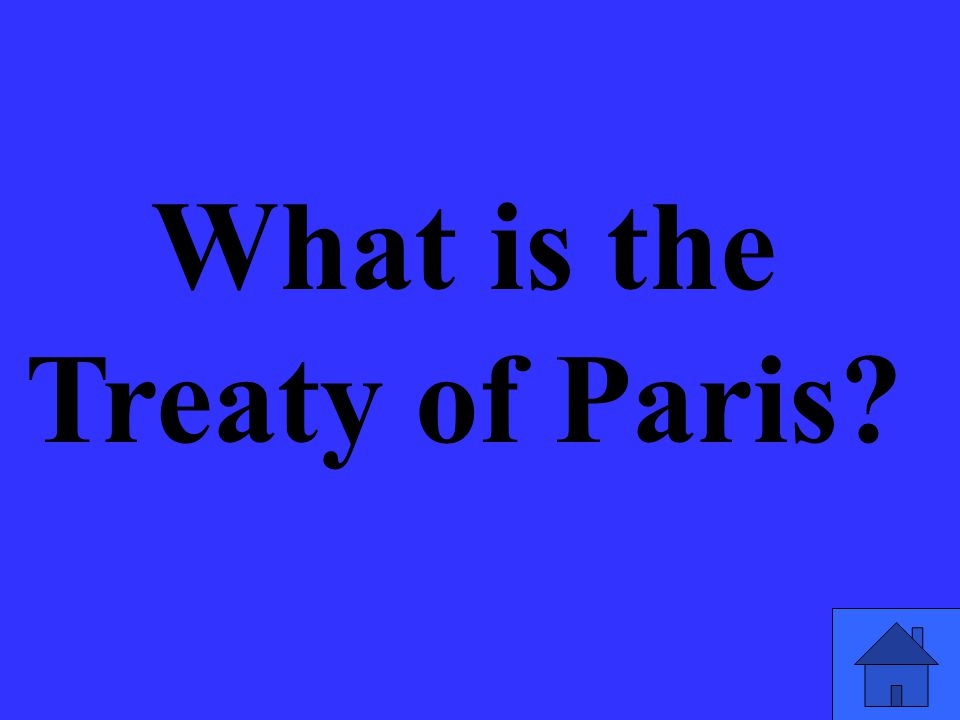 What is the Treaty of Paris