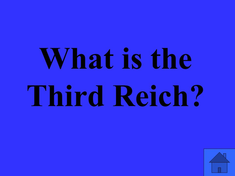 What is the Third Reich