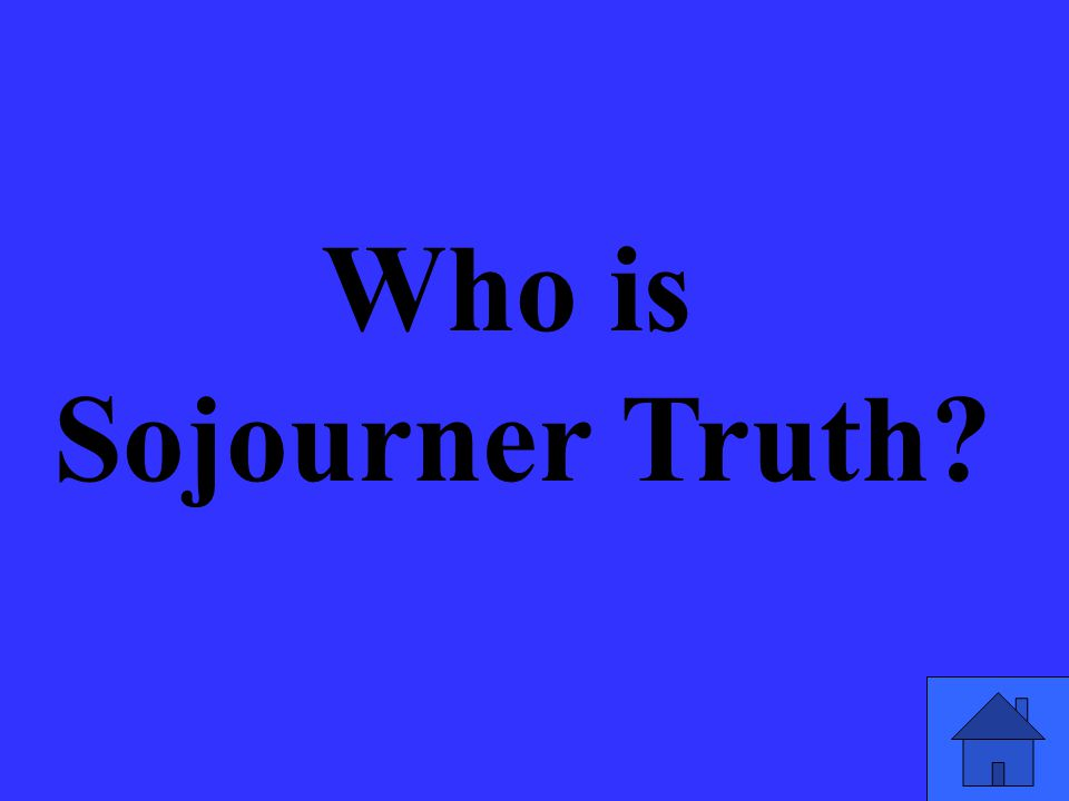Who is Sojourner Truth