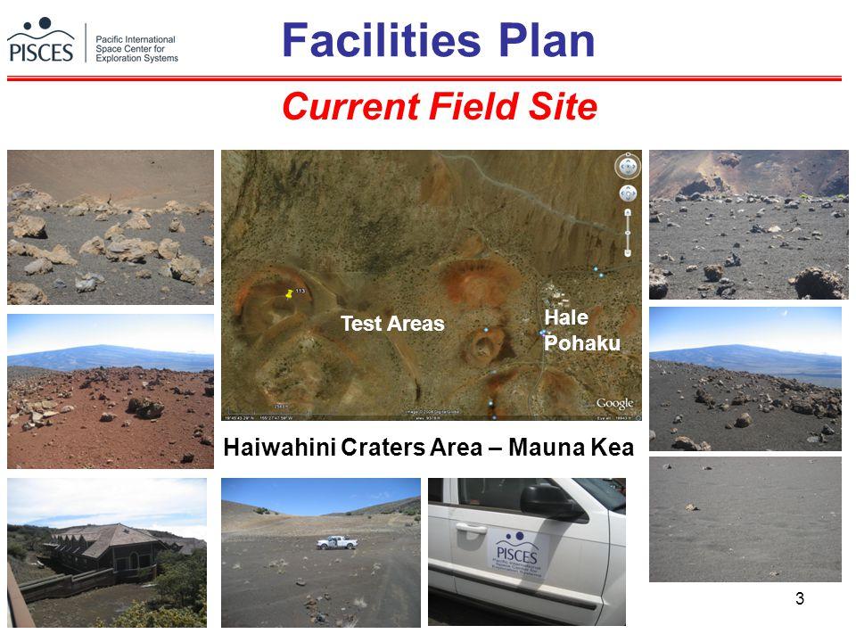 3 Facilities Plan Current Field Site Test Areas Hale Pohaku Haiwahini Craters Area – Mauna Kea