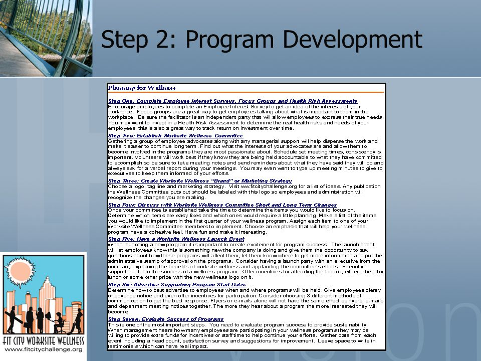 Step 2: Program Development