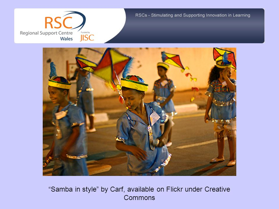 Samba in style by Carf, available on Flickr under Creative Commons