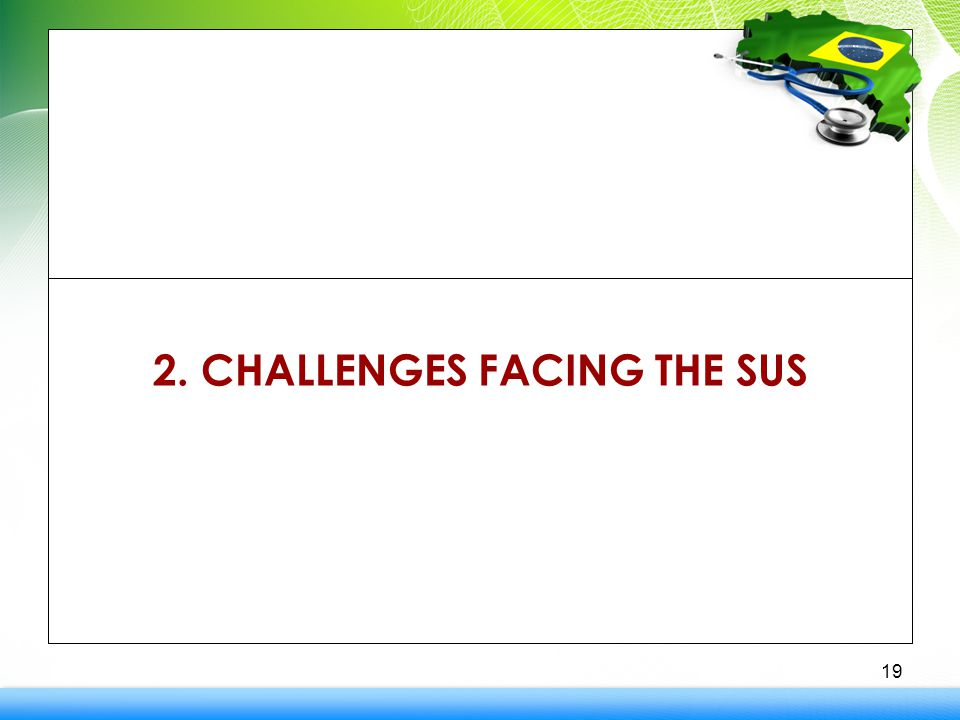 2. CHALLENGES FACING THE SUS 19