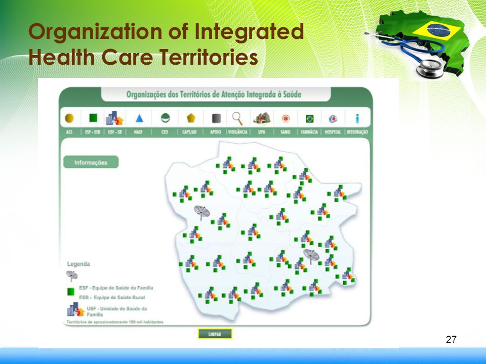27 Organization of Integrated Health Care Territories