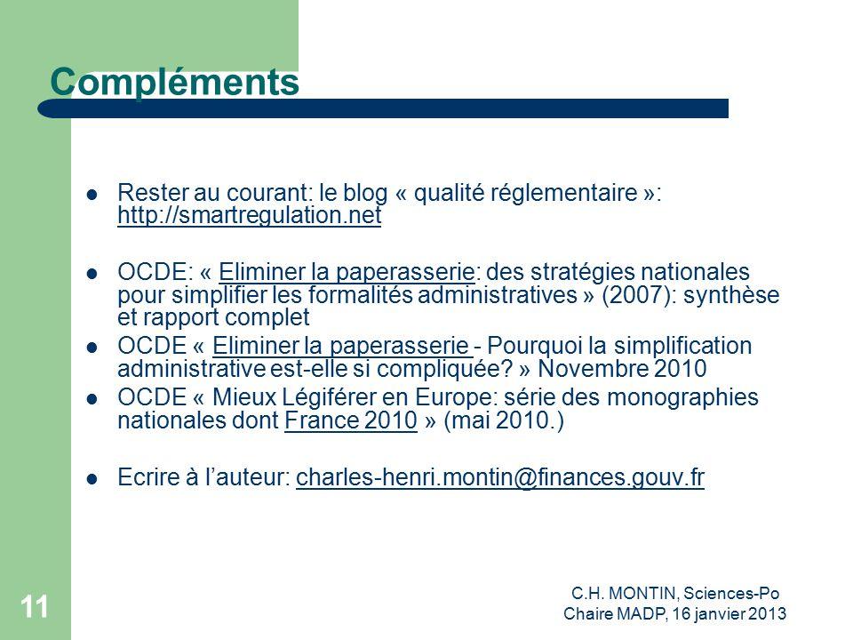 C.H. MONTIN, Sciences-Po Chaire MADP, 16 janvier 2013 12 Thank you