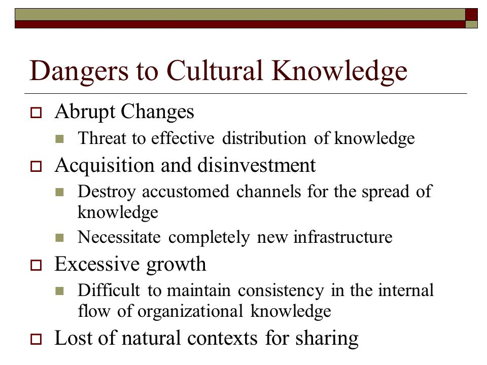 Barriers to knowledge