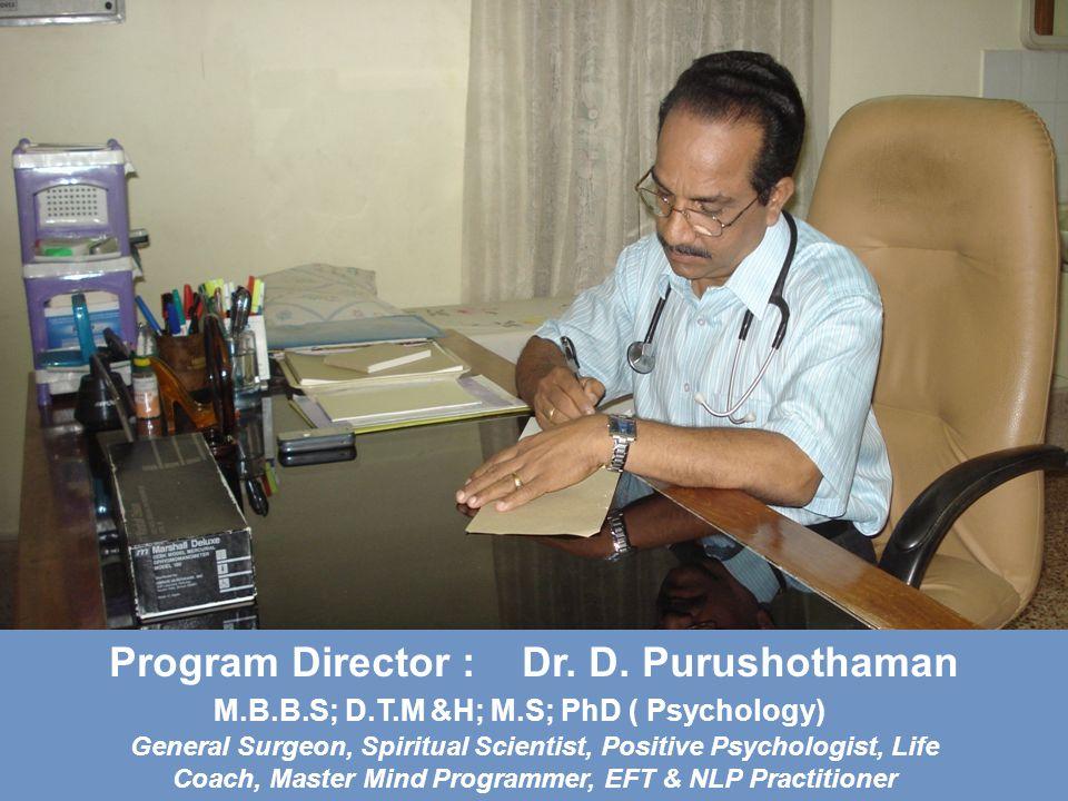 Program Director : Dr. D.
