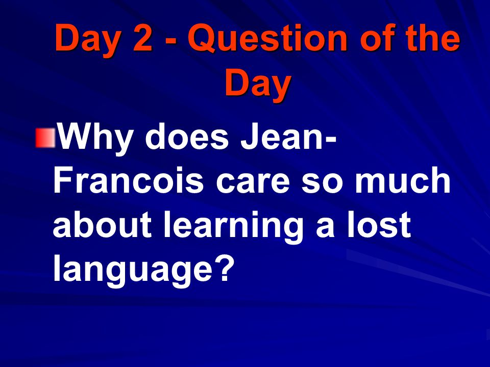 Question of the Week TE 466L How can knowing another language create understanding?